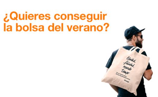 Bolsa verano gratis por informarte de promociones en tiendas Orange