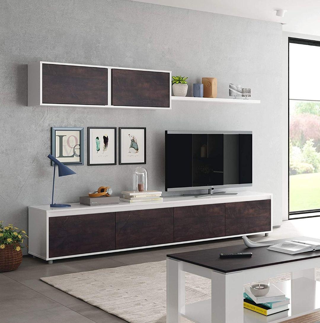 Habitdesign Mueble de Salon Moderno 200 cm (Ancho) x 43 cm (Alto) 41 cm (Fondo)