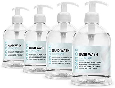 Solimo Jabón de manos para pieles sensibles (4x500ml) (compra recurrente)