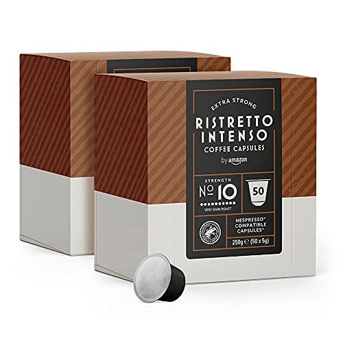 Cápsulas a 8 centímos. Cápsulas Ristretto Intenso, compatibles con Nespresso - 100 cápsulas (2 x 50)