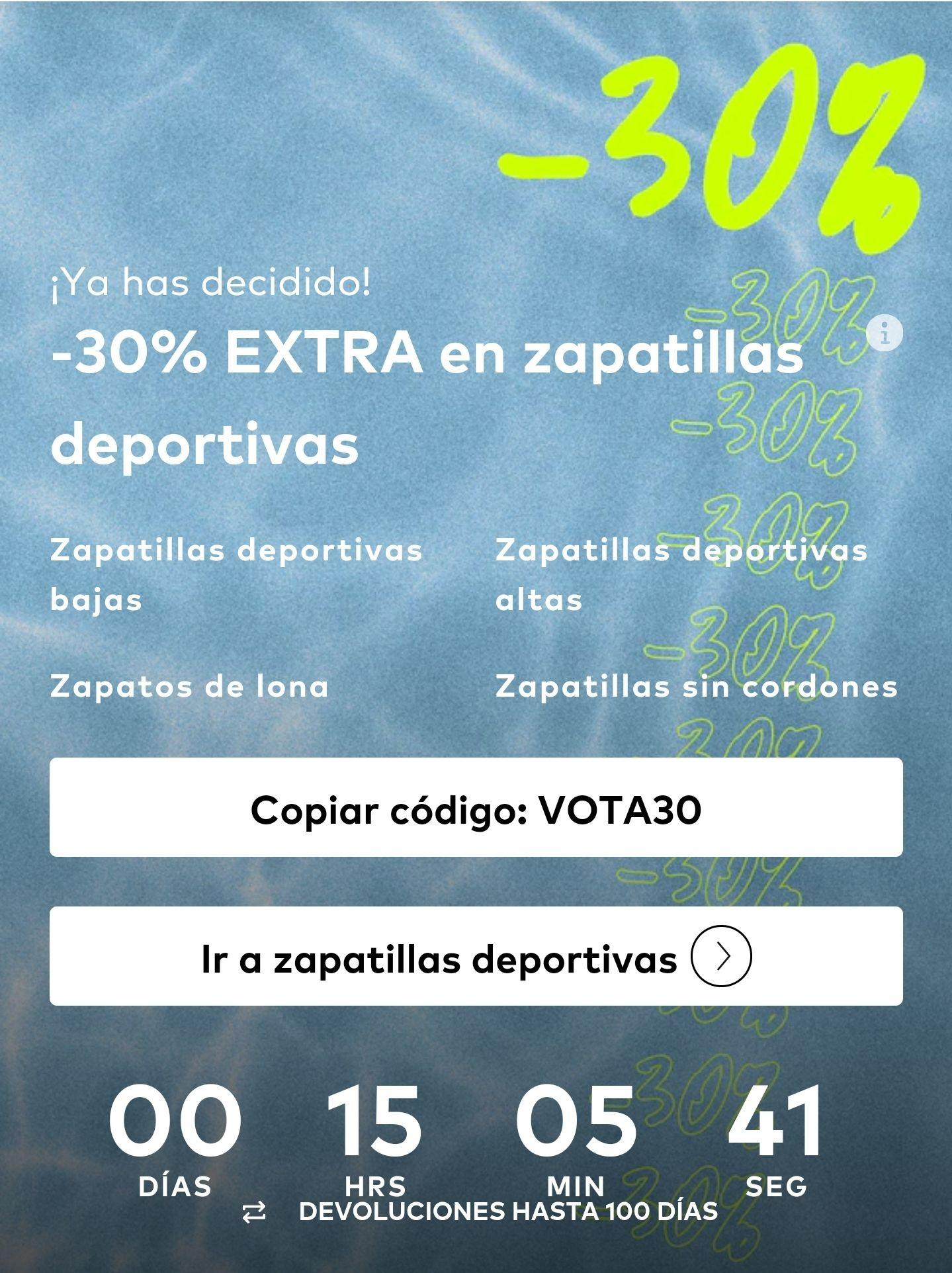 -30% EXTRA en zapatillas deportivas
