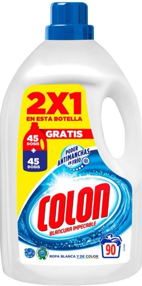 DETERGENTE COLON GEL 45+45= 90 Dosis (Ropa Blanca y Color)