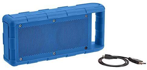 Amazon Basics - Altavoz portátil impermeable con Bluetooth para exterior, IPX5, 15 W, azul