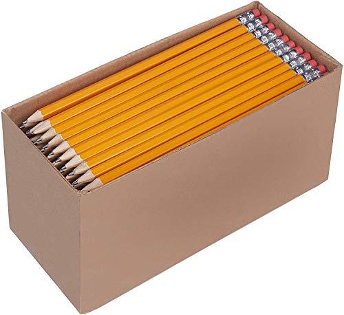 Amazon Basics - Lápices n.º 2 HB de madera, afilados, Pack de 150 por solo 10,94€