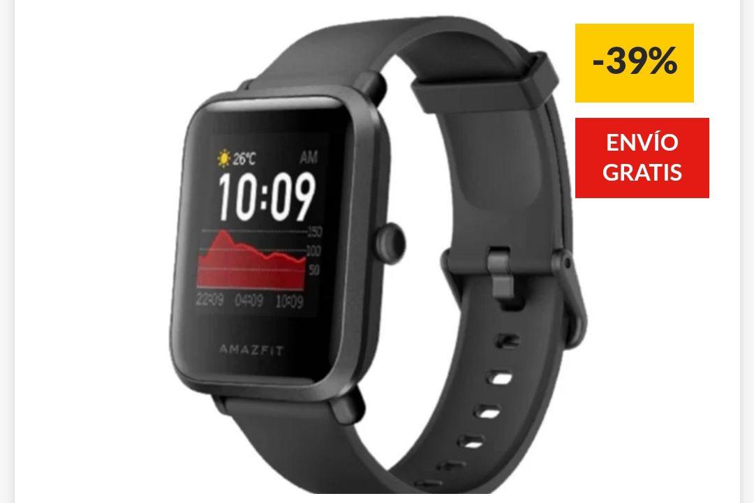 Smartwatch AMAZFIT Bip S GPS Negro (Caja Abierta) por solo 34€ y Nuevo por solo 42€ (Varios colores)