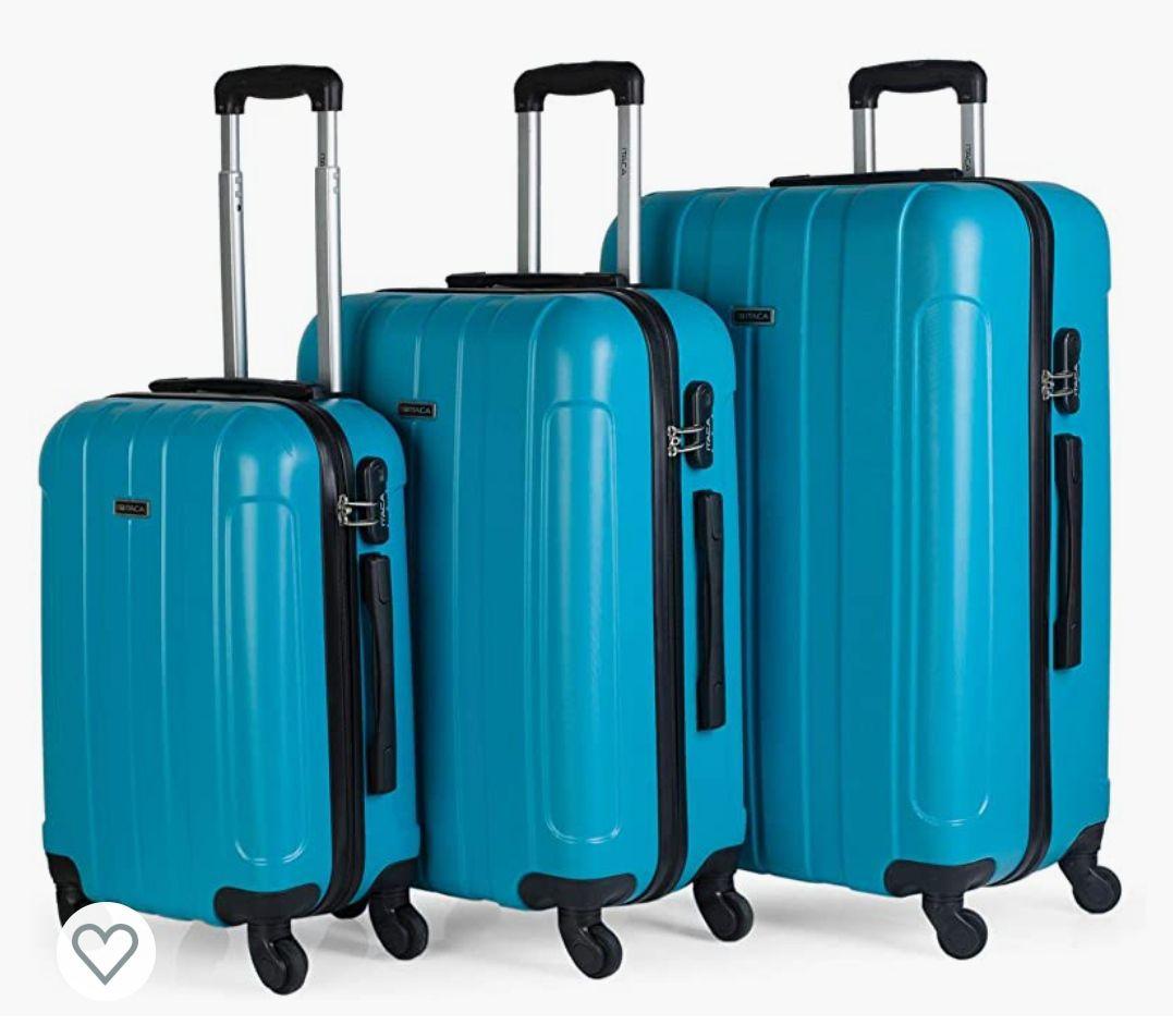 ITACA 385 ITACA - Juego Maletas de Viaje rígidas 4 Ruedas Trolley 55/64/73 cm abs. s cómodas prácticas y Ligeras.