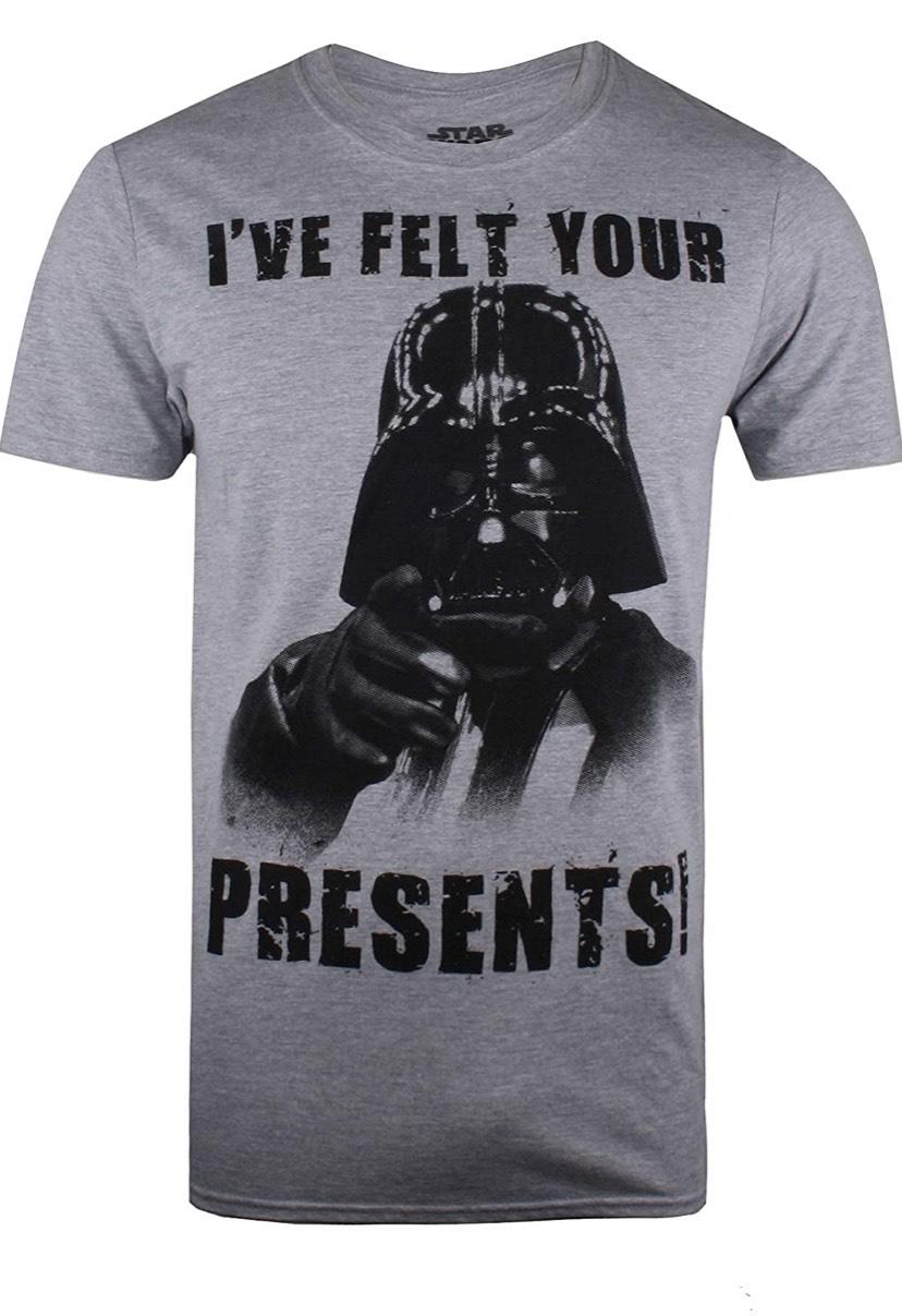 Talla M camiseta Star Wars Vader Felt Your Presents
