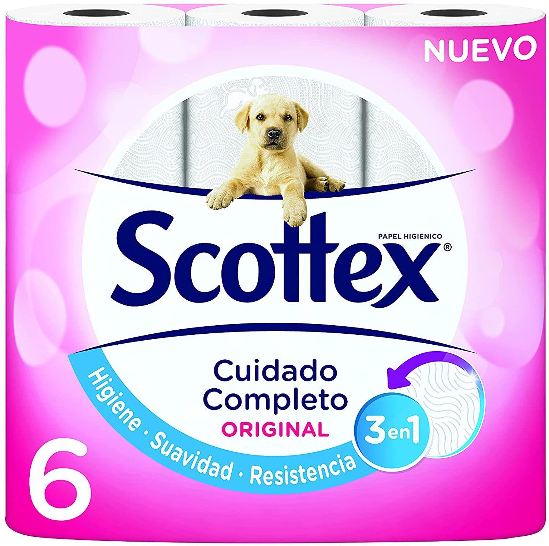 6 rollos de papel higienico scottex mas en la descripcion