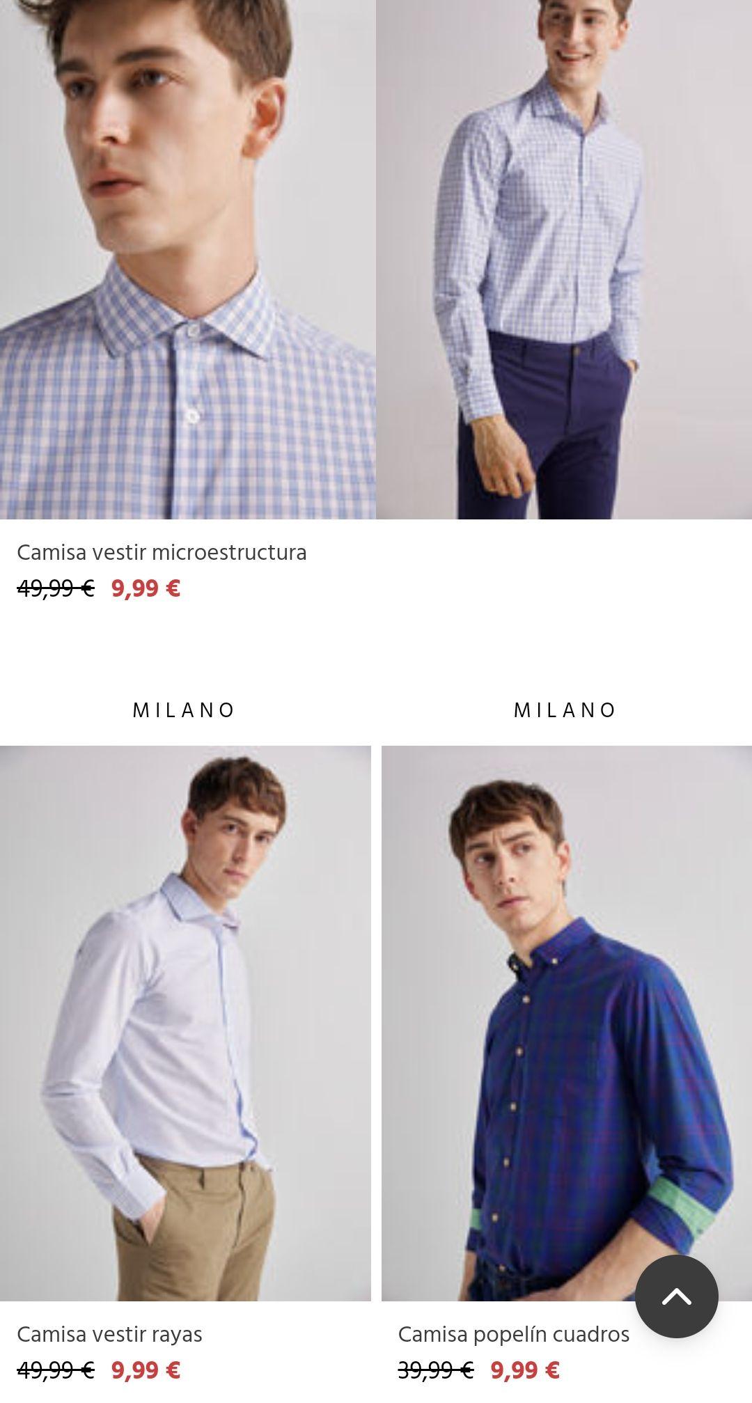Camisas Milano Vestir y Sport muchos modelos. Todas las tallas.