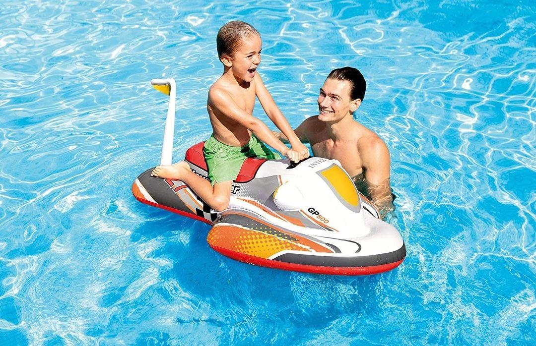 Moto acuática hinchable para niños 117 x 77 cm