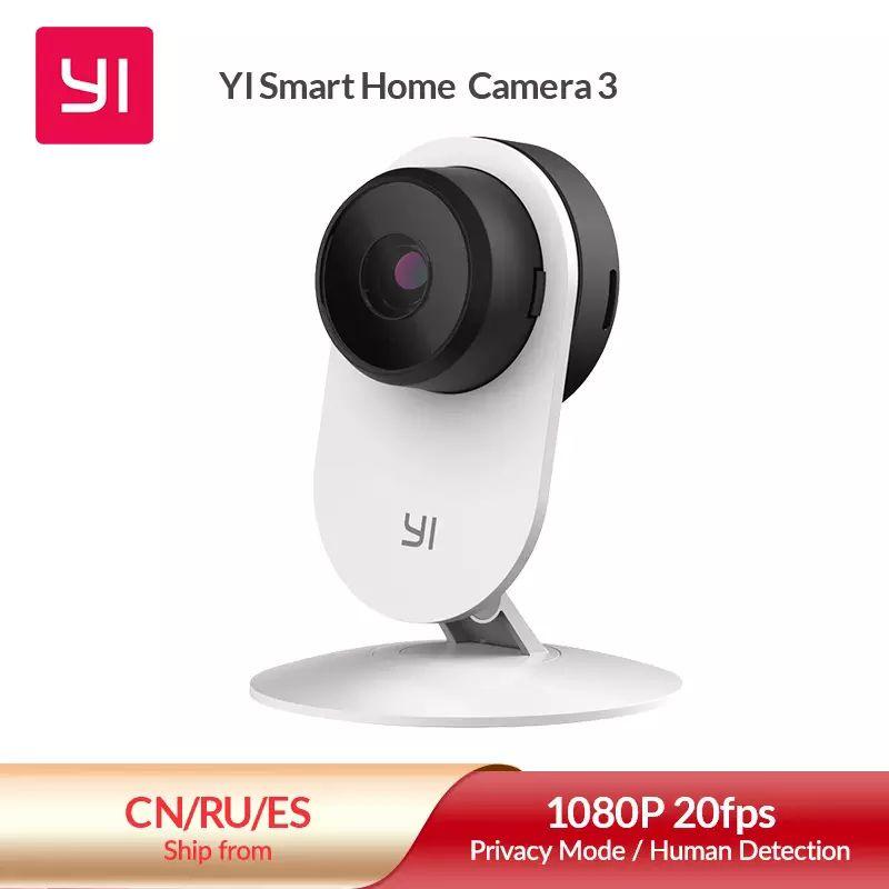 YI-Cámara de seguridad inalámbrica IP Yi Home 3, 1080P (Desde España)