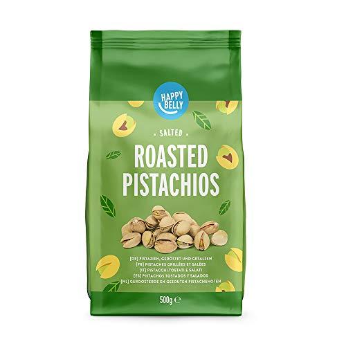 Marca Amazon - Happy Belly Pistachos tostados, 4x500g