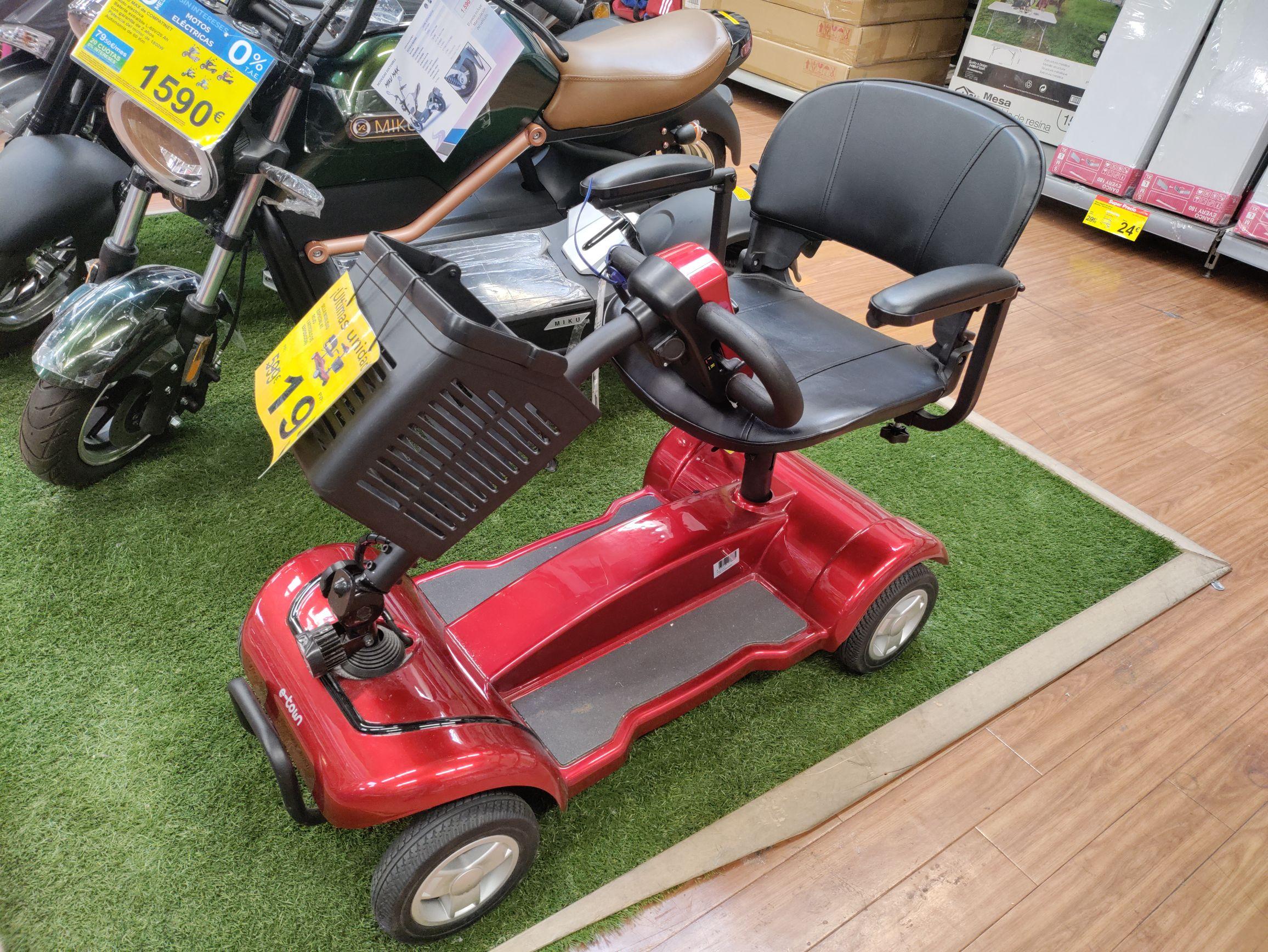 Scooter eléctrico ligero para movilidad reducida