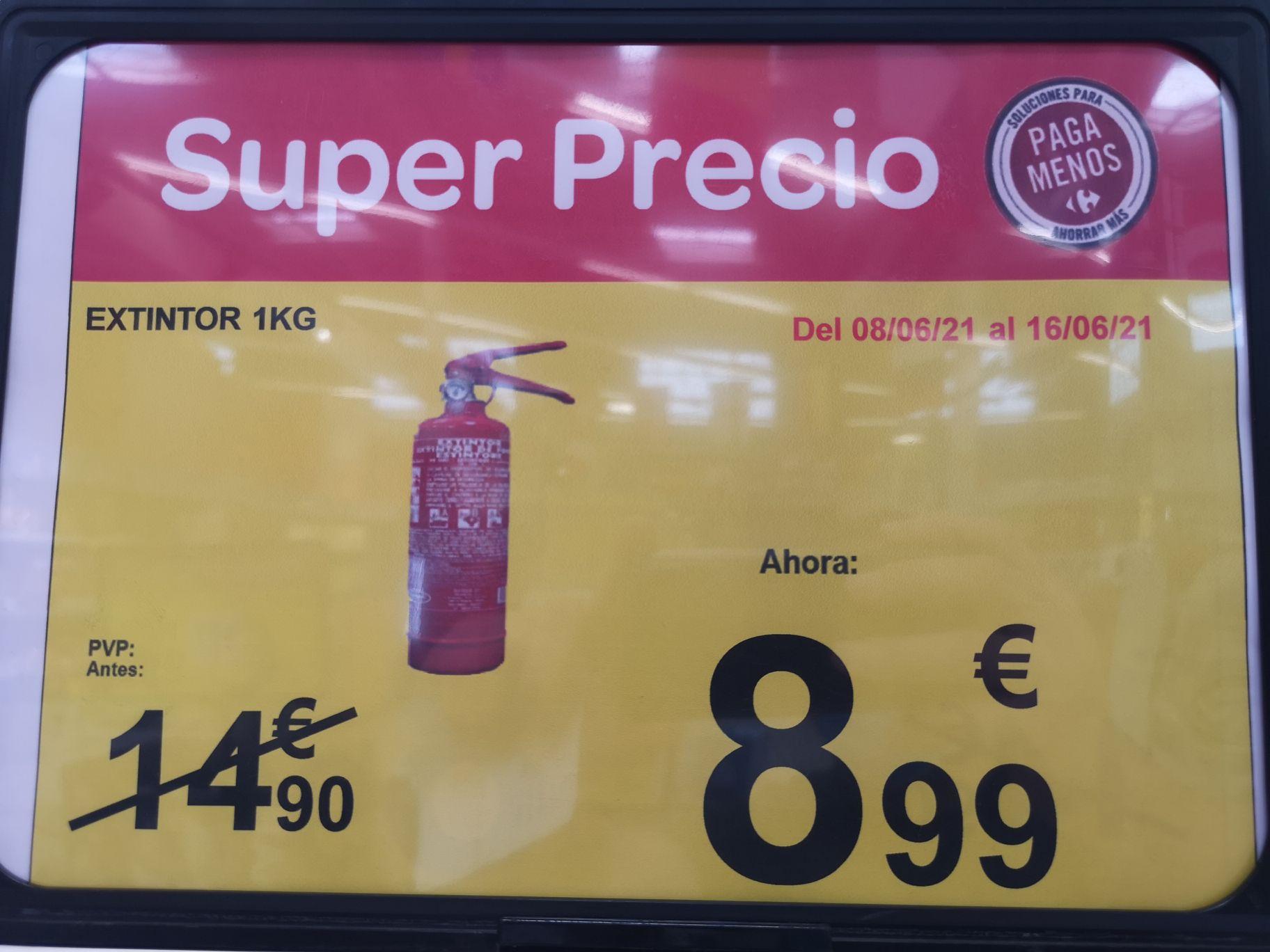 EXTINTOR 1 KG. A 8.99 EUROS