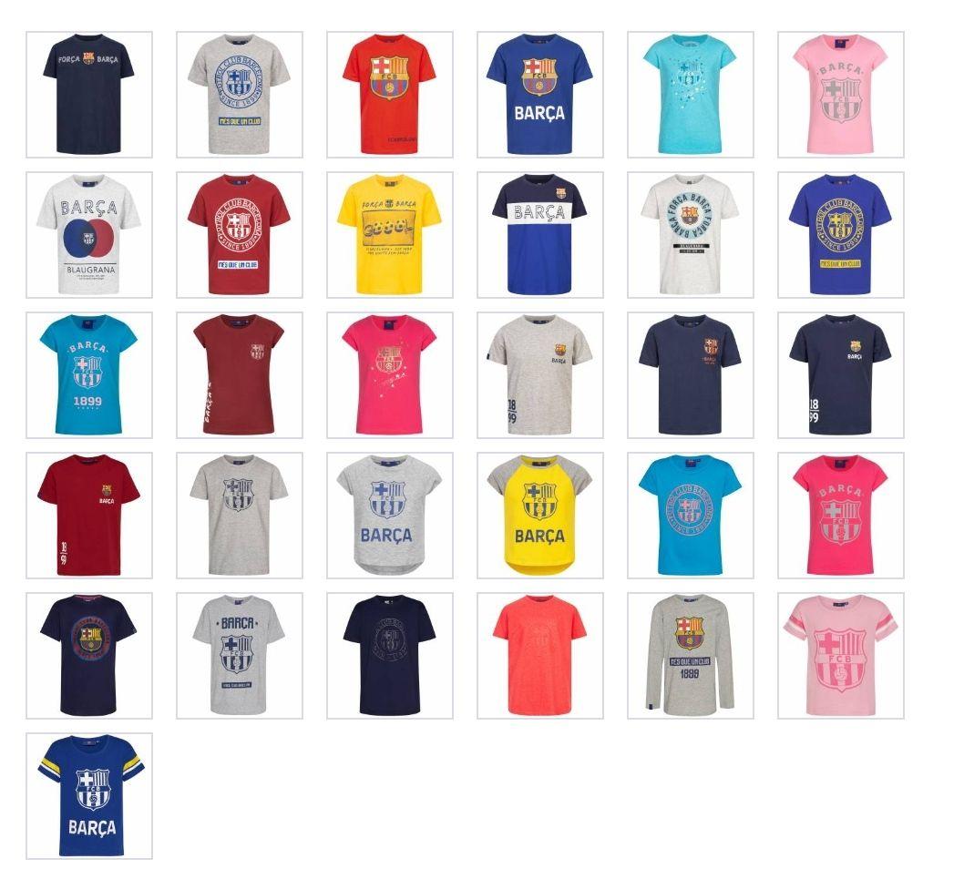 Variedad de camisetas para niño@ de la marca FC Barcelona, licencia oficial