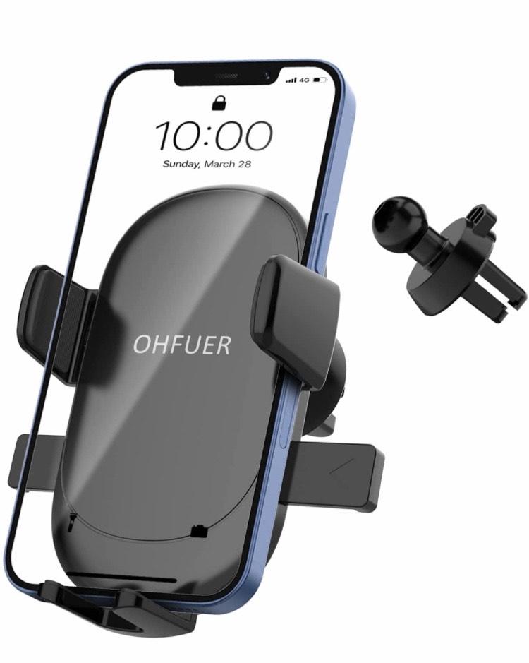 OHFUER Soporte Móvil Télefono para Rejilla
