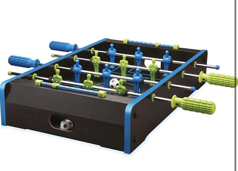 Mesa de 20 Pulgadas con Mini Juego de fútbol en Colores neón, Madera, 20 Pulgadas