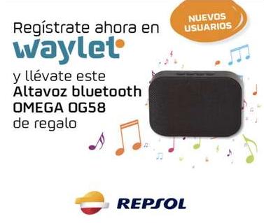 Regalo de altavoz OMEGA al registrarte en Waylet con Travelclub (Nuevos usuarios)
