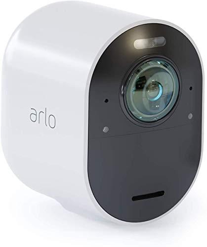 Arlo Ultra 4K - Cámara adicional Smart (recargable, libre de cables con visión diurna/nocturna, funciona con Amazon Alexa)