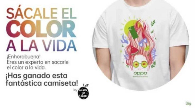 Camiseta GRATIS completando test sobre colores en fotografía - OPPOColorYourLife