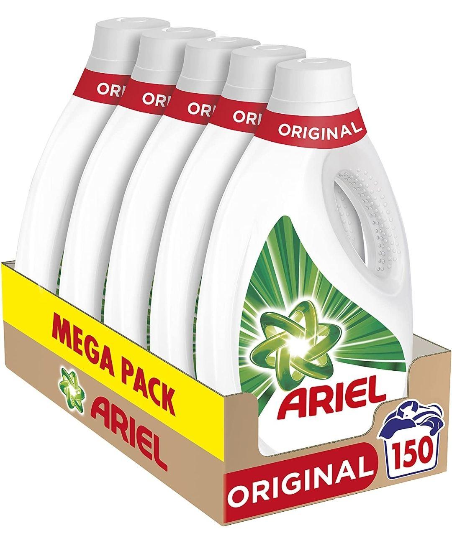Ariel Detergente Lavadora Líquido, 150 Lavados (Pack 5 x 30)