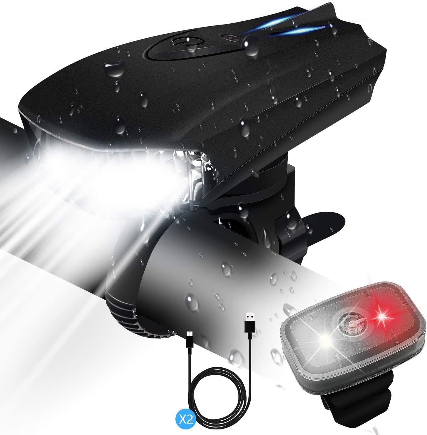 luces bicicleta delantera y trasera con 5 Modos recargable