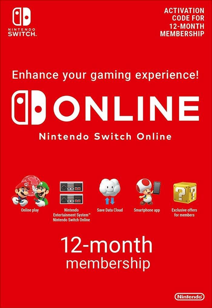 Nintendo Switch Online 12 Meses por 14,80€