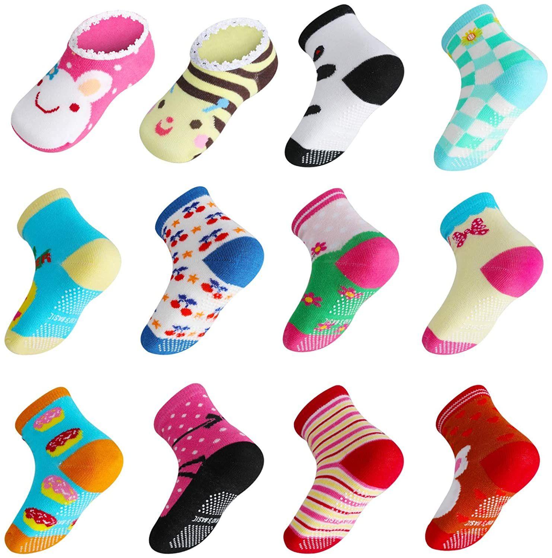 Calcetines Antideslizantes para Niños-14 Pares niños de 2 a 3 años aprox.