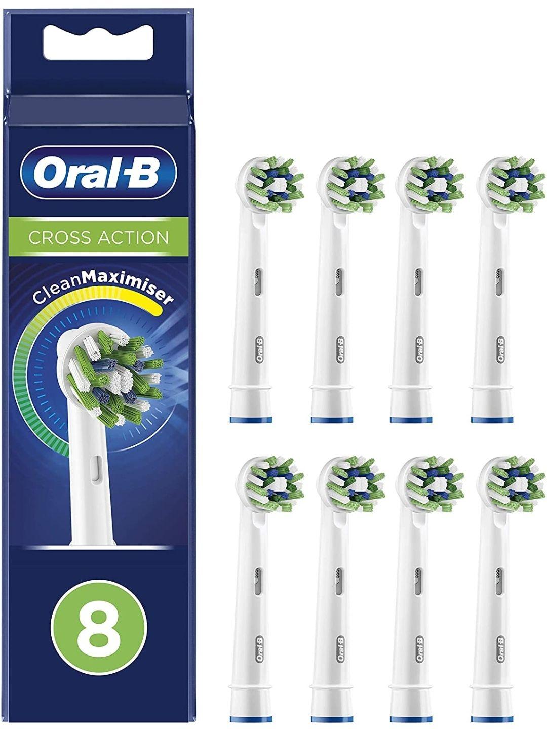 Oral-B CrossAction. Pack de 8 Recambios Originales
