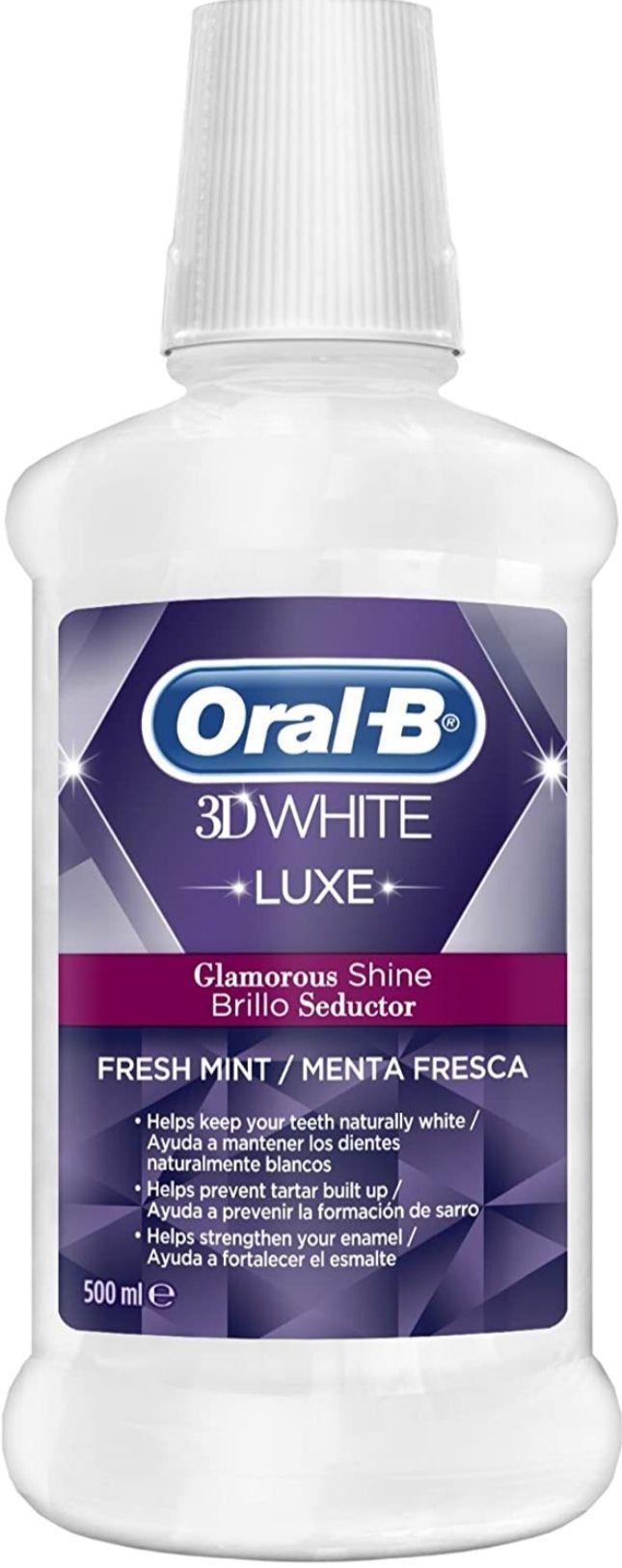 Oral B Colutorio 3Dw Luxe Brillo, 500 ml, Menta fresca