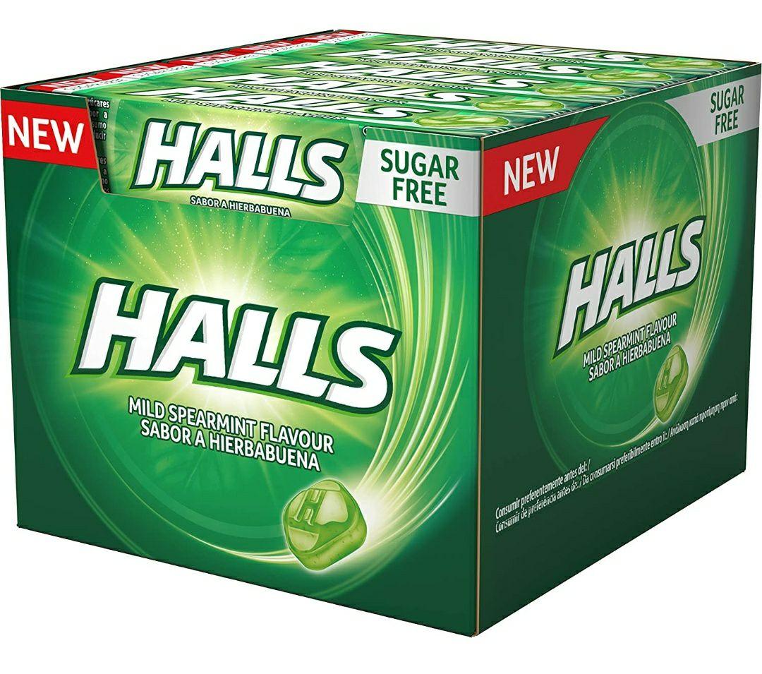 Pack de 20 paquetes de Halls Menta Suave