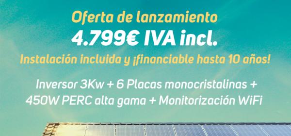 Oferta de lanzamiento instalación energía solar
