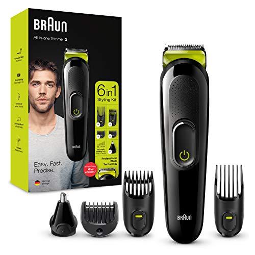 Braun máquina recortadora facial, pelo, nariz y orejas para hombre, color verde eléctrico