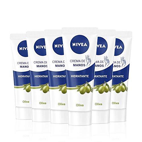 Pack de 6 botes de Crema de manos al aceite de oliva NIVEA