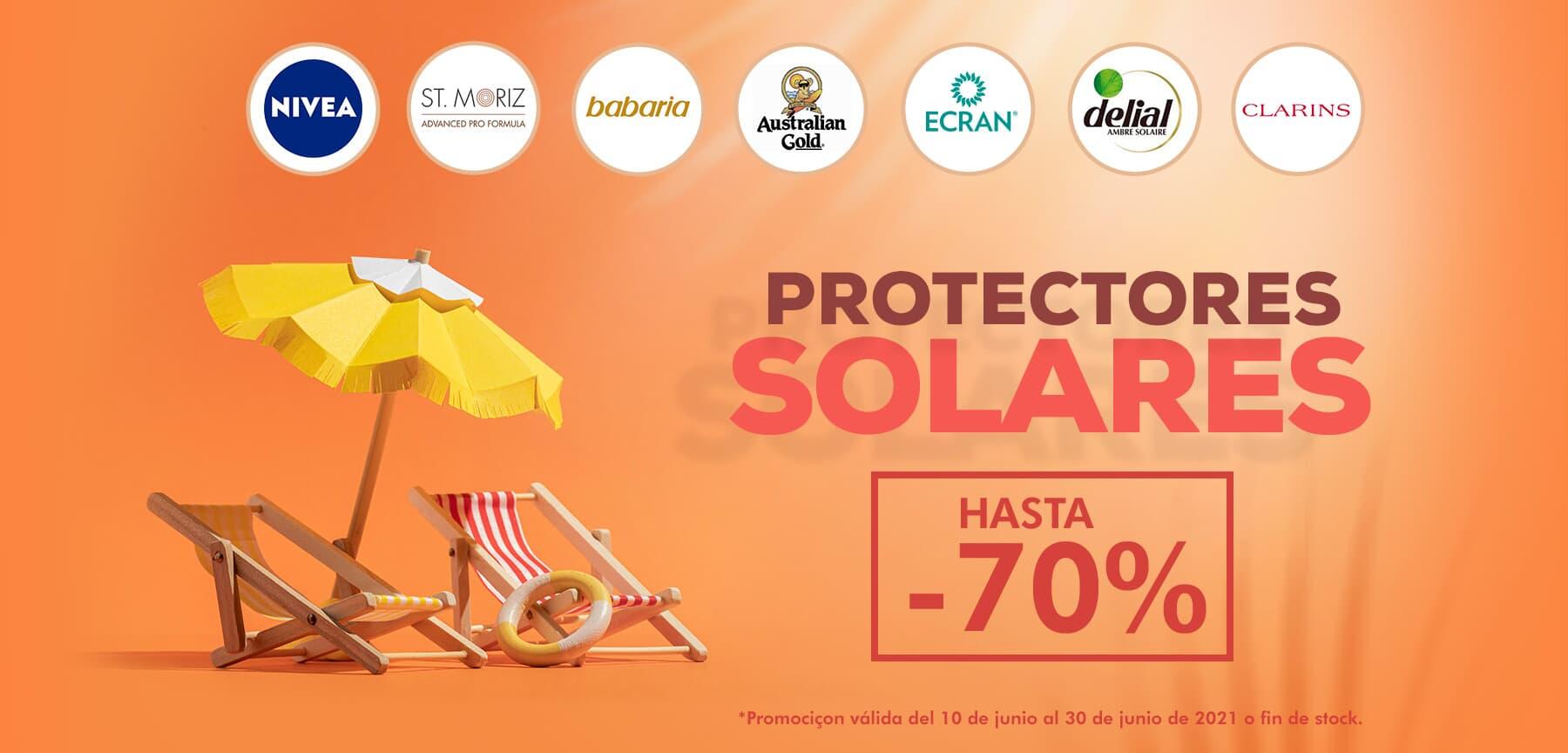 Hasta 70% dto en protectores solares