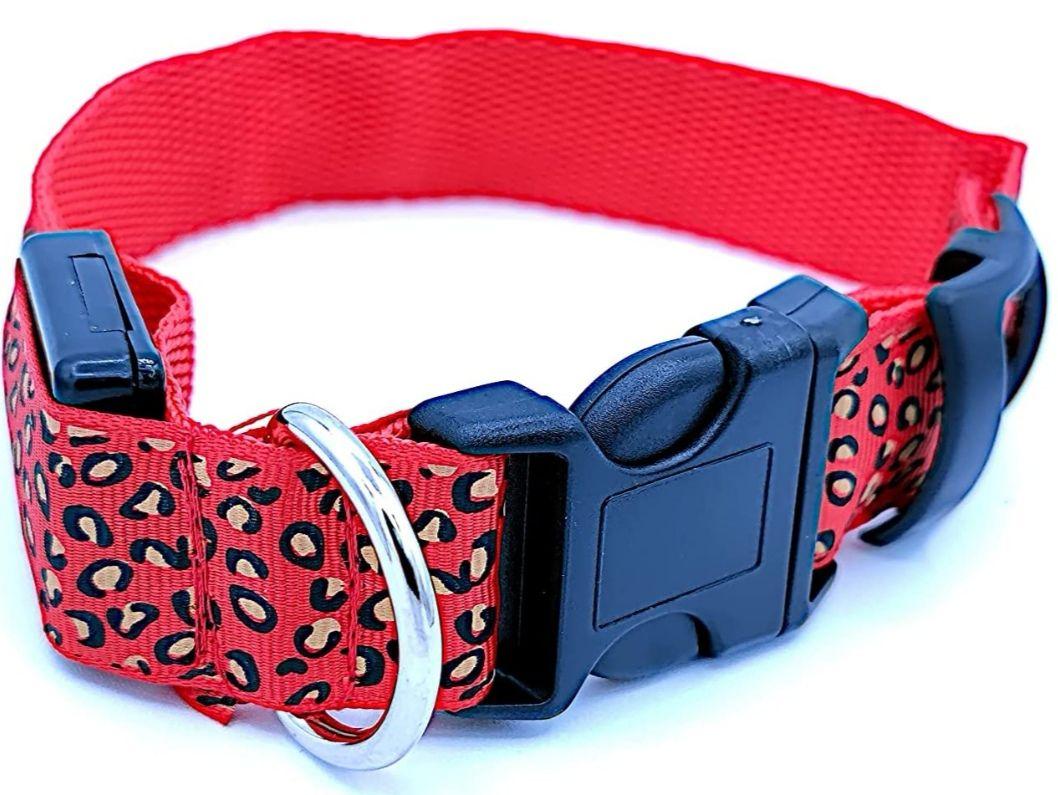 Collar luminoso LED para tu mascota. Ajustable e impermeable.[Varias Medidas]