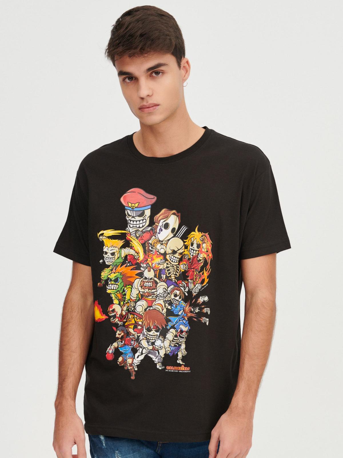 Camiseta Calaveritas Street Fighter , tallas de XS a XL