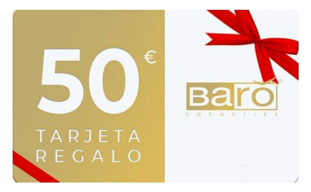 Tarjeta regalo de 50€ para la web de Barò Cosmetics