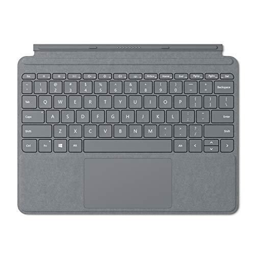 Microsoft Signature Type Cover Alcantara - Funda con teclado para Surface Go, Plata - Teclado QWERTY Español