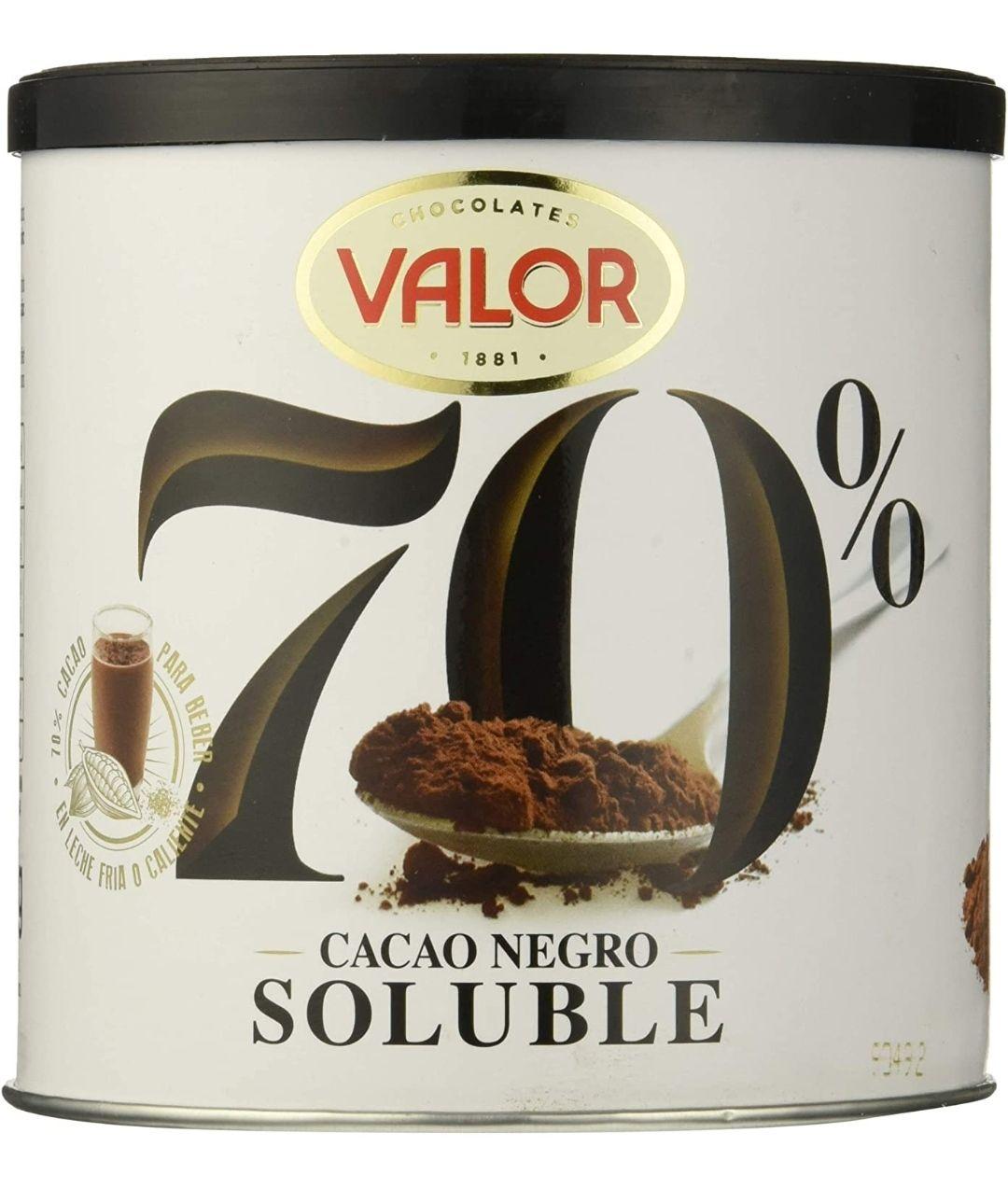 Pack de 6 x 300gramos de Valor Cacao Soluble Negro 70%, (Total 1800 g)