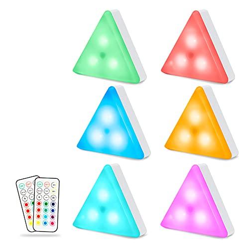 6X Luces de colores con mando