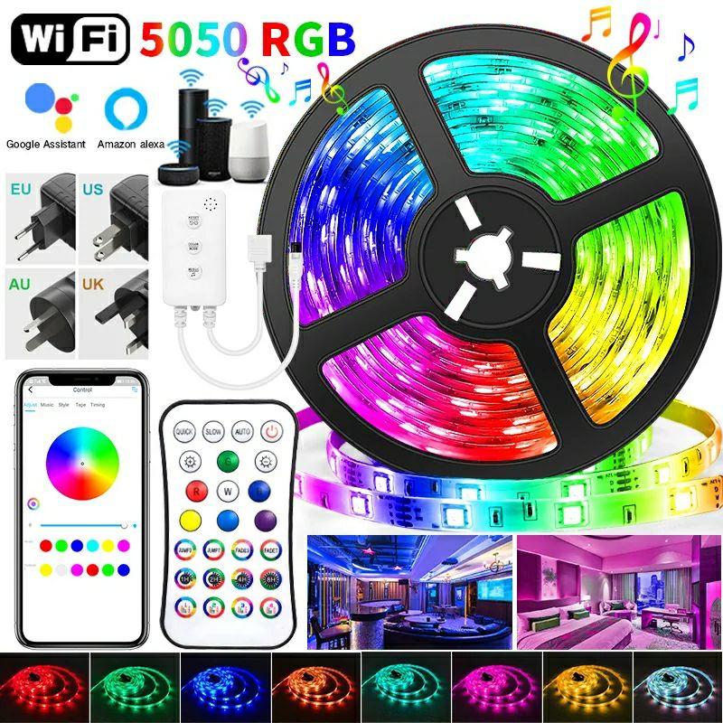 Tira LED 5M RGB 2835/5050 Control IR