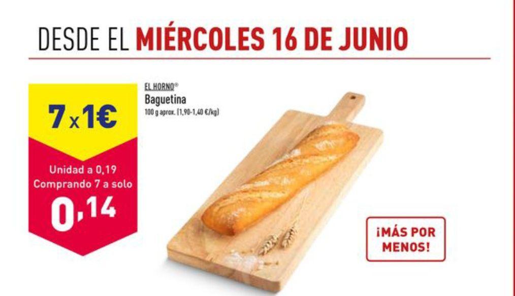 Aldi 7 Baguetinas por solo 1€ (oferta en tienda)