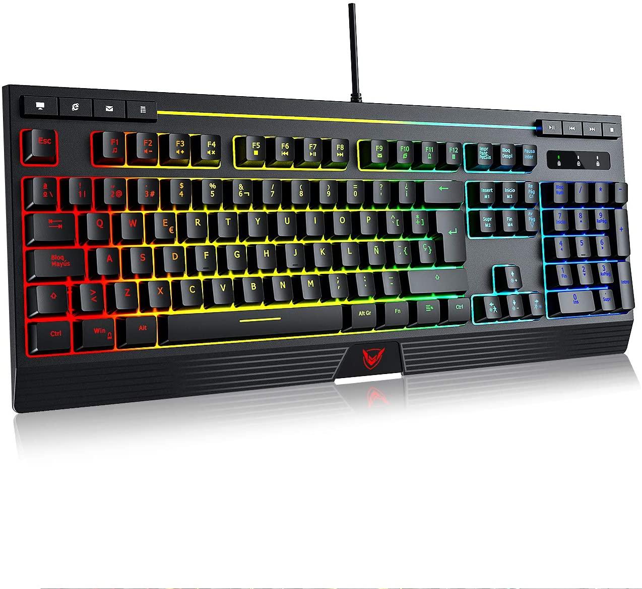 Teclado RGB gaming con Ñ solo 8.9€