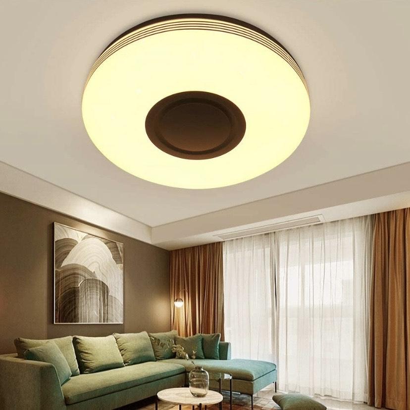 Lámpara de techo con altavoz bluetooth ,y mando a distancia (bluetooth + WIFI) [Clase Energética a ++]