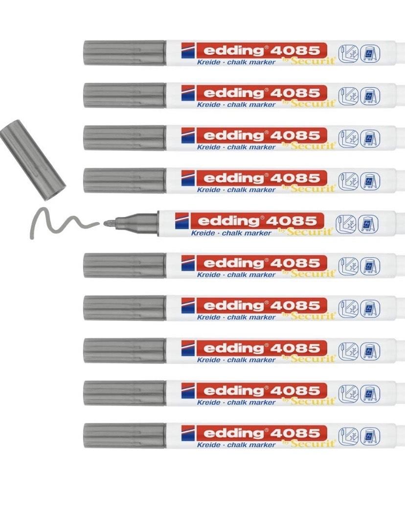 Caja de 10 rotuladores Edding de tiza para pizarra