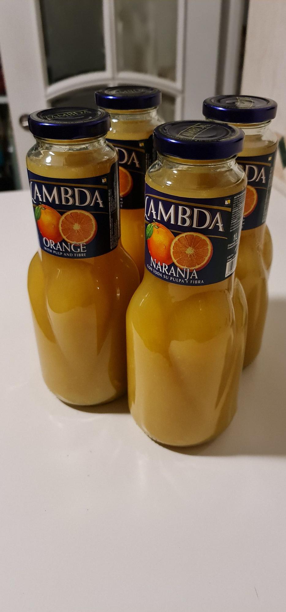 Pack 6 botellas zumo Naranja 1L en todos los Sqrups de la comunidad de Madrid
