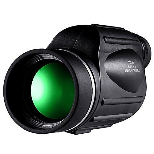HUTACT Telescopio Monocular, lente óptica 13X50, capa múltiple que proporciona una vista clara y una escala de medición de distancias para mediciones de distancia y altitud.