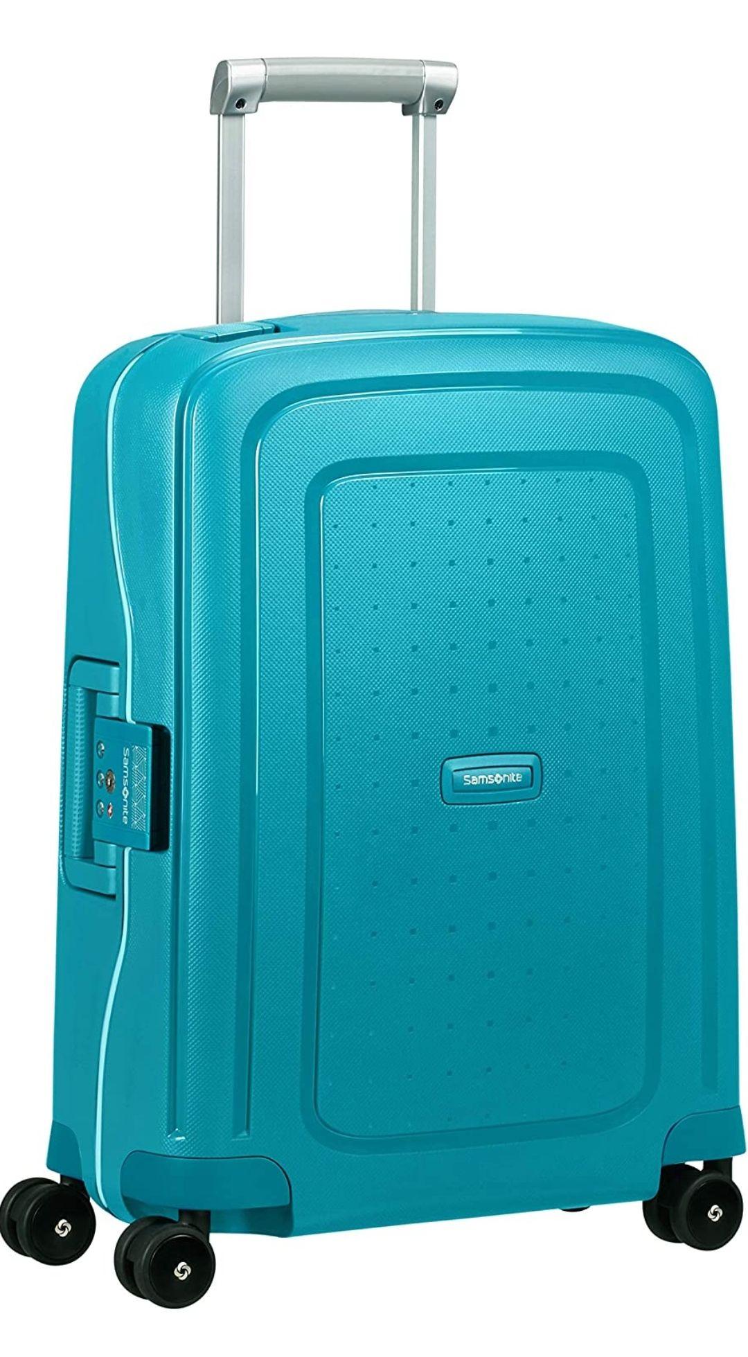 amsonite S'Cure - Spinner S Equipaje de Mano, 55 cm, 34 L, Azul (Petrol Blue Capri)