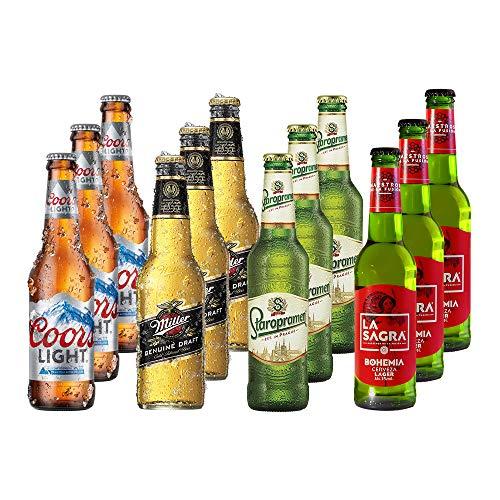 Lagers del Mundo Pack Degustación de Cerveza 12 botellas x 330 ml